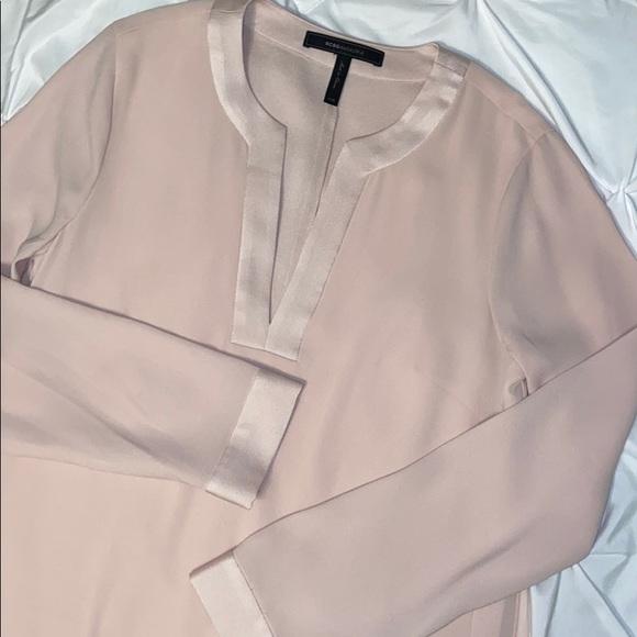 BCBGMaxAzria Dresses & Skirts - BCBGMaxAzria Long Sleeved Blush Tunic Dress Sz XXS